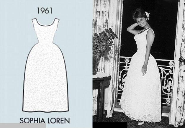 Sophia Loren, o apariţie în dantelă albă, Cannes 1961
