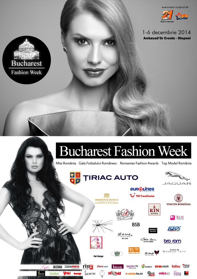 Bucharest Fashion Week, 1-6 decembrie 2014