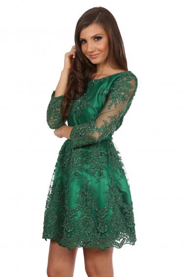 Rochie verde smarald de la www.talis.ro