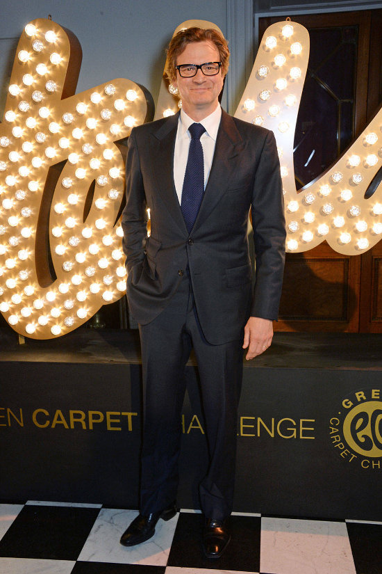 Colin Firth – prezentare Stella McCartney Green Carpet Collection (costum Tom Ford)
