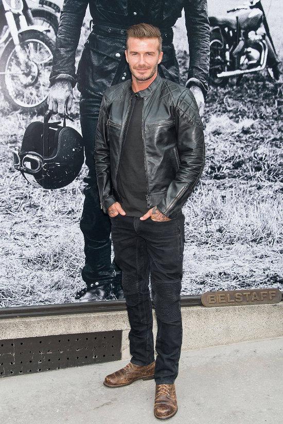 David Beckham – eveniment Belstaff (tinuta Belstaff)