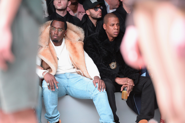 "Sean ""Diddy"" Combs attends the adidas Originals x Kanye West YEEZY SEASON 1 fashion show during New York Fashion Week Fall 2015 at Skylight Clarkson Sq on February 12, 2015 in New York City"