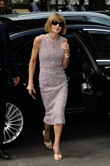 Anna Wintour  la Săptămâna Haute Couture de la Paris