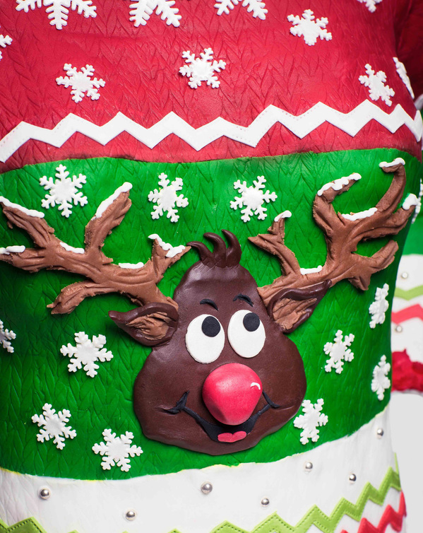 Tasty Christmas jumper is completely matipan