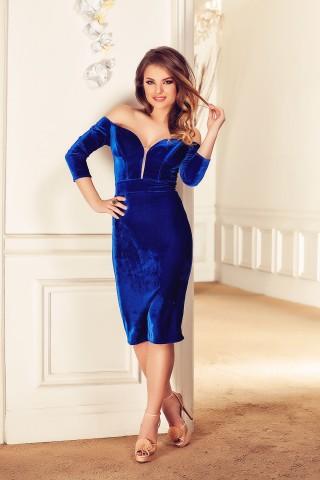 rochie-eleganta-midi-din-catifea-albastra-cu-cupe-saran