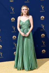 Dakota Fanning rochie Dior Haute Couture
