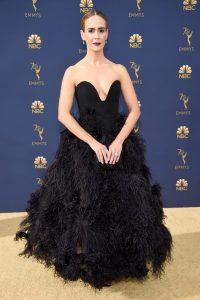 Sarah Paulson rochie Oscar de la Renta