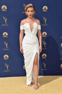 Scarlett Johansson rochie Balmain