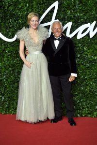 Cate Blanchett si Giorgio Armani